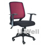 mid back red office mesh chair 6057