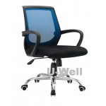Mid back computer mesh chair blue 6054c